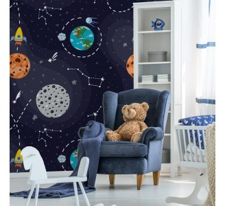 Constellations and Stars Removable Wallpaper