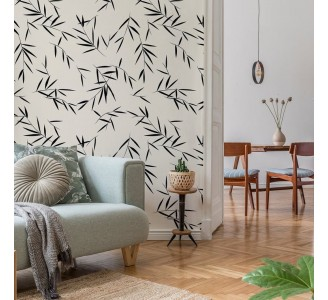 Bamboo Branches Removable Wallpaper