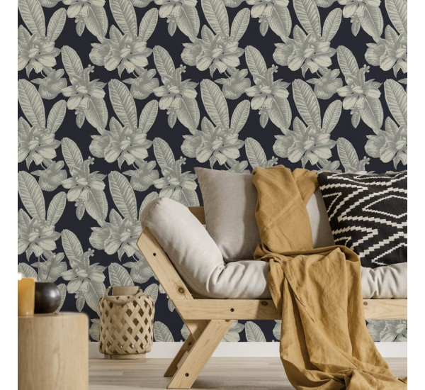 White Floral Removable Wallpaper