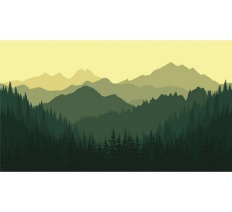 Mountains Removable Wallpaper pattern