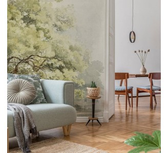 Watercolor Large Tree Removable Wallpaper