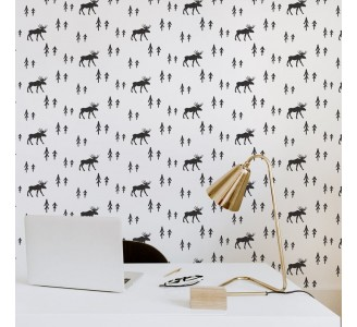 Simple Style Deer Removable Wallpaper