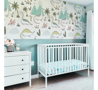 Doodle Dinosaurs Removable Wallpaper