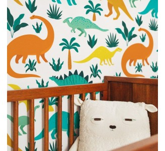 Dinosaurs and Tropical Nature Removable Wallpaper
