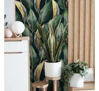 Vintage Palm Leaves Removable Wallpaper