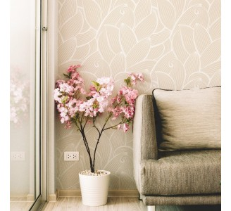 Golden Modern Leaves Removable Wallpaper