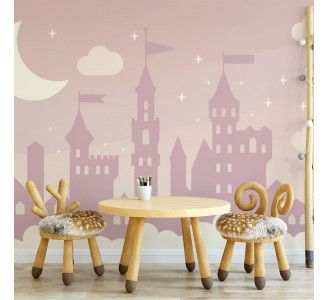 Pink Castle Removable Wallpaper