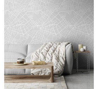 Street Map Removable Wallpaper