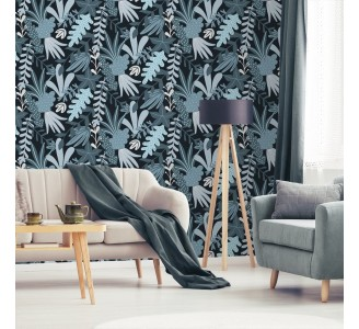 Scandinavian Autumn Leaves Removable Wallpaper