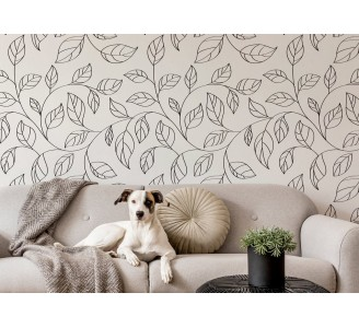 Minimalistic Leaves Removable Wallpaper