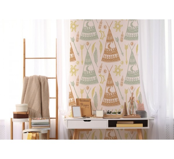 Bohemian Teepees Removable Wallpaper