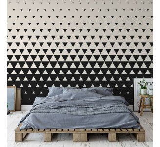 Black and White Triangles Removable Wallpaper