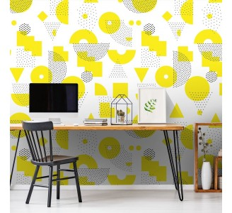 Yellow Abstract Removable Wallpaper
