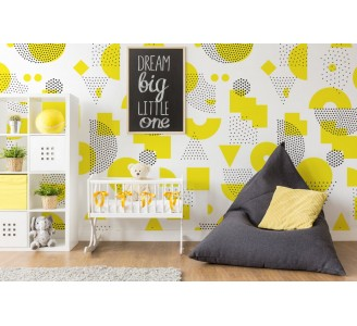 Yellow Abstract Removable Wallpaper nursery