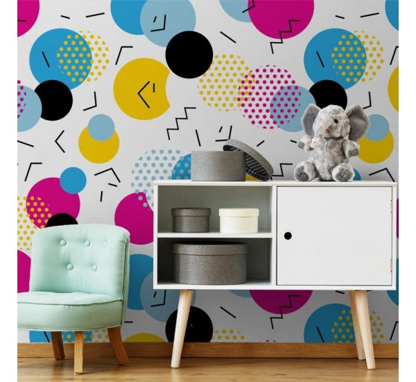 Colorful Home Removable Wallpaper