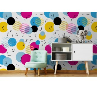Colorful Home Removable Wallpaper full view