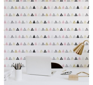 Aztec Triangles Removable Wallpaper