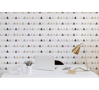 Aztec Triangles Removable Wallpaper full view