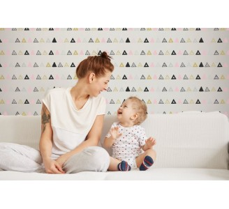 Aztec Triangles Removable Wallpaper living room