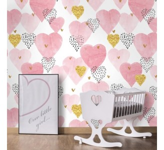 Hearts Removable Wallpaper