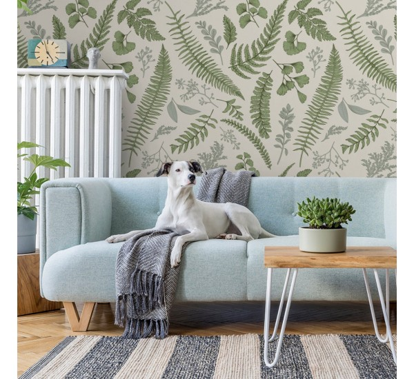 Leaves and Herbs Removable Wallpaper