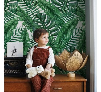 Exotic Leaves Removable Wallpaper