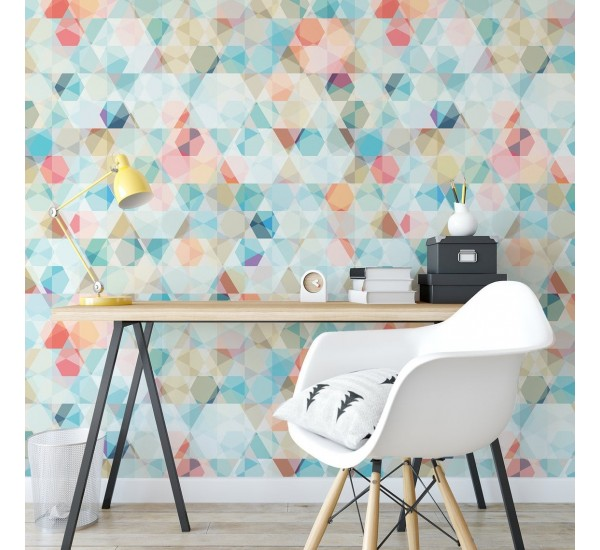 Colorful Cubes Removable Wallpaper
