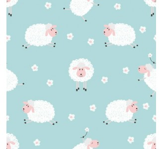 Lovely Sheeps Removable Wallpaper pattern