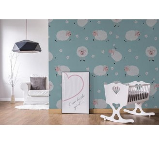 Lovely Sheeps Removable Wallpaper kids room