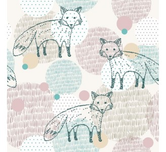 Foxes Removable Wallpaper pattern