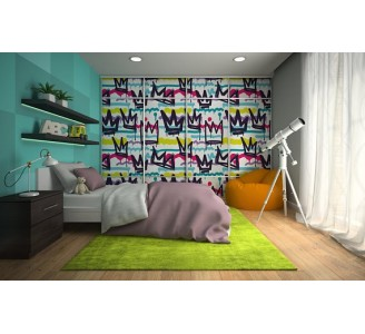Graffiti Removable Wallpaper bedroom