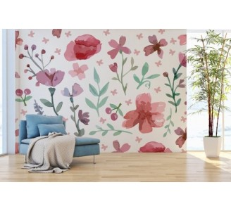 Floral Calmness Removable Wallpaper