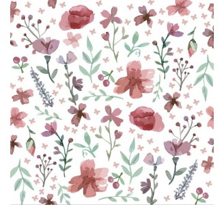 Floral Calmness Removable Wallpaper pattern