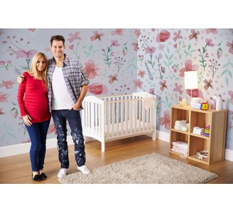 Floral Calmness Removable Wallpaper nursery