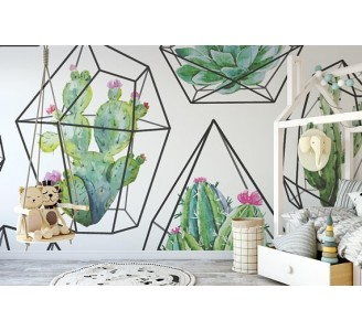 Cactus Removable Wallpaper nursery