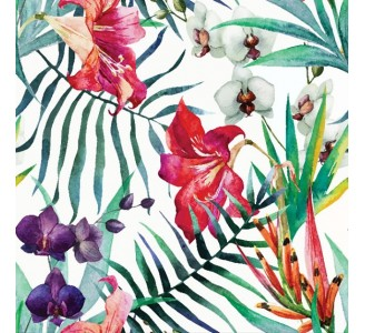 Tropical Flowers Removable Wallpaper pattern