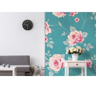 Soft Floral Love Removable Wallpaper