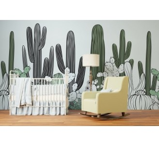 Cactus Desert Removable Wallpaper nursery