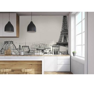 Paris Removable Wallpaper