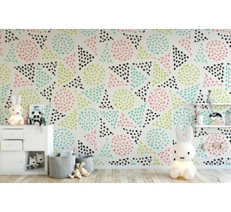 Dotted Triangles Removable Wallpaper