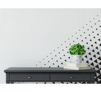 Black and White Triangles Removable Wallpaper living room