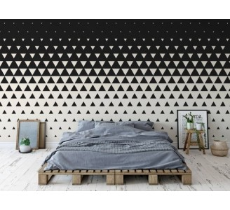 Black and White Triangles Removable Wallpaper bedroom