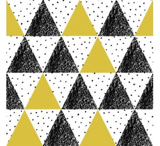 Retro Triangles Removable Wallpaper pattern