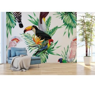 Paradise Birds Removable Wallpaper