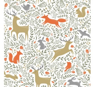 Forest Animal Removable Wallpaper pattern