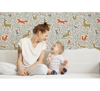 Forest Animal Removable Wallpaper nursery