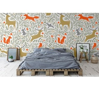 Forest Animal Removable Wallpaper bedroom