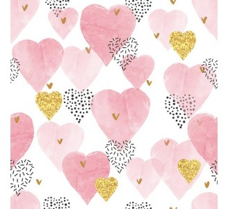 Hearts Removable Wallpaper pattern