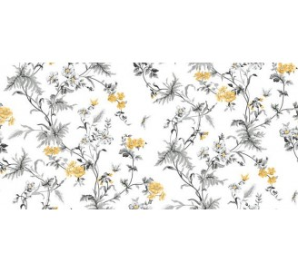 Vintage Yellow Flowers Removable Wallpaper pattern