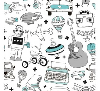Boys World Removable Wallpaper pattern
